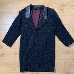 Vintage David Benjamin Womens Wool Leather Jacket